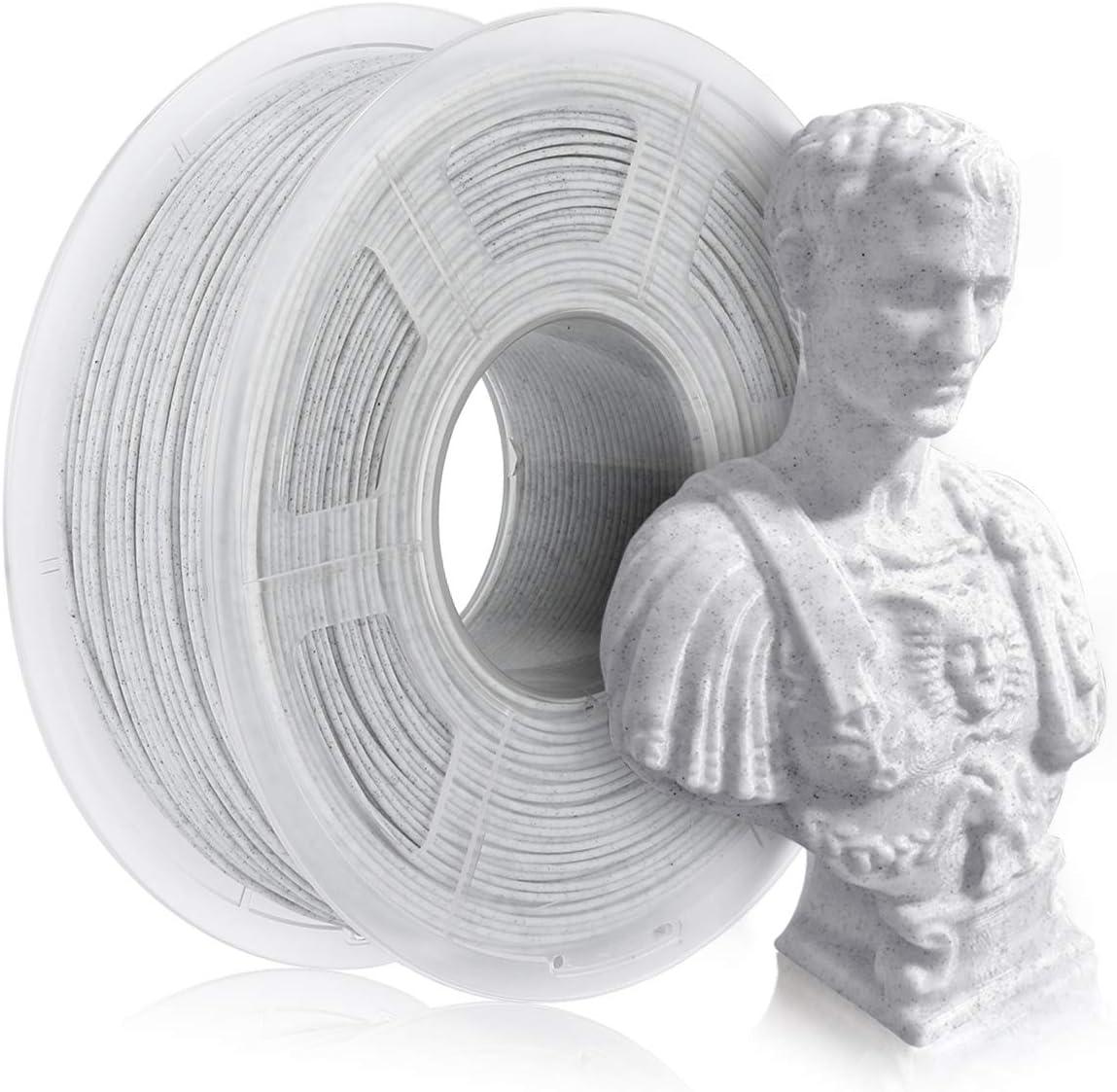 Filament de marbre PLA 1.75mm, filament d'imprimante 3D PLA 1KG, filament coloré par marbre