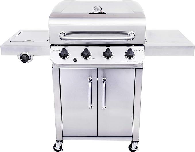 Char-Broil 463375919 Performance Stainless Steel 4-Burner - Best Design With a Side Burner