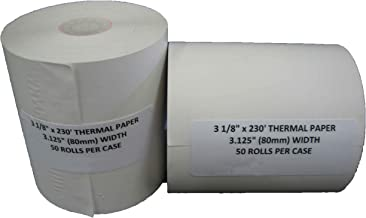 """NCR 856348 Thermal Receipt Paper, 3-1/8"""" x 230' White (50 Rolls)"""