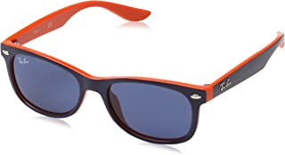 Ray-Ban Square Sunglasses For Unisex-Child - Blue, 0RJ9052S 178/8047
