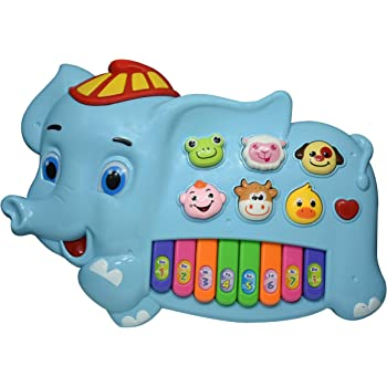 Henicx - Premium Quality Musical Toy   Toddler Toy for Kids with Lights ,Sounds and Animal Shapes   It is a Elephant Shape Kids Toy (Sky Blue)