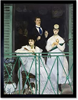 Edouard Manet Interior At Arcachon 1871 Painting Large Wall Art Print 18X24 In