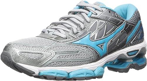 Mizuno Running Wohommes Wave Creation 19 chaussures, High-Rise bleu Atoll Castlerock, 11 B US
