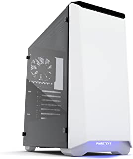 Phanteks Eclipse P400S Tempered Glass Midi-Tower Blanco - Caja de Ordenador (Midi-Tower, PC, Acrilonitrilo butadieno estireno (ABS), Vidrio, Acero, Blanco, ATX,EATX,Micro ATX,Mini-ATX, Multi)