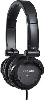 PHONON フォノン 密閉ダイナミック型ヘッドホン 折畳式 Mobile Hi-Fi Phone 4400 (Black) ケース付 4000後継機
