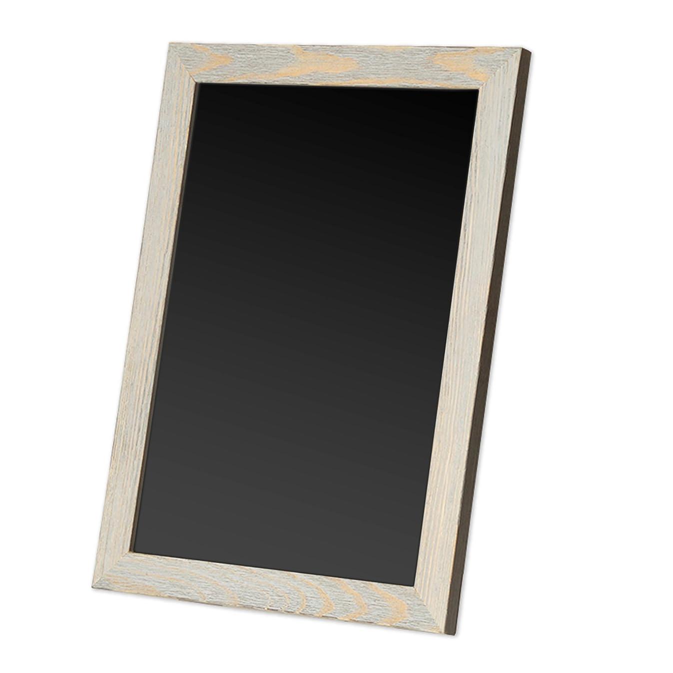 Rustic Wooden Magnetic Kitchen Chalkboard Sign - 12x16 Inch Graywash Framed Hanging Chalk Board for Farmhouse Decor, Wedding, Restaurant & Home