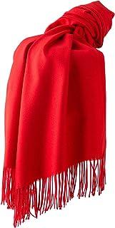 Dolamen Unisex Damen Herren Schal Schlauchschal mit Fransen, Winter Feinstrick Halstücher Stolen Umschlagtücher Schal, Warmes Halstuch für Business