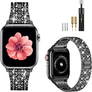 Fitlink Apple Watch Band Compatible with Apple Watch 38mm 40mm 42mm 44mm, Dressy Bling Metal...