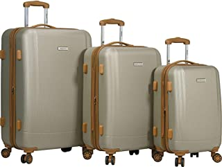 Dejuno Legion 3-pc Hardside Spinner TSA Combination Lock Luggage Set, Beige, One Size