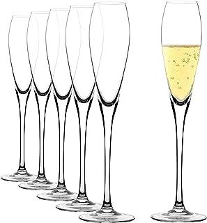 Flûtes à Champagne en Verre Cristal, Coupe de Champagne de 6 Pièces, Verre a Cocktail Soufflé à la Main avec Capacité de 1...