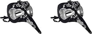 Beistle S54207-BKSAZ2 Long nose mask, Black/Silver
