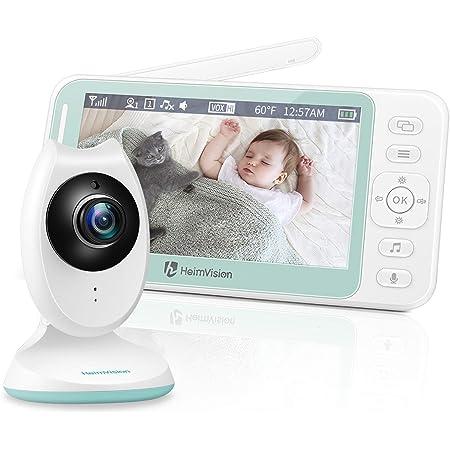 VOX Communication Bidirectionnel Berceuses Capteur de Temp/érature TMEZON Babyphone Cam/éra Moniteur b/éb/é 4,3 LCD Couleur Vid/éo B/éb/é Surveillance Sans Fil//wifi,Vision Nocturne
