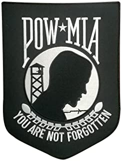 Motorcycle Biker Jacket Embroidered Patch (Large Back Patch) - POW MIA You are Not Forgotten - Vietnam, Military - 9