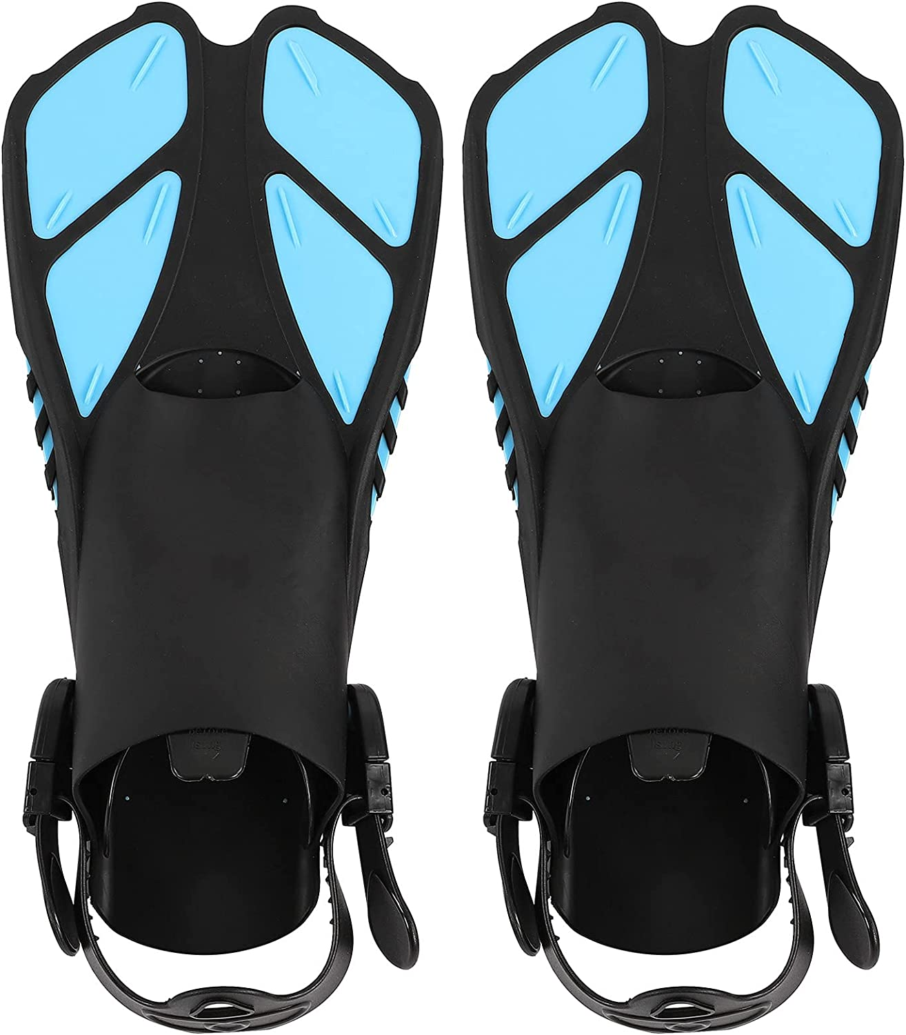 Swimming Fins 1 Pair Adjustable Diving L Soft Opening large release sale Outlet SALE TPR Open Heel