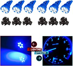 cciyu T10 168 194 LED Instrument Dash Light Interior Lights Bulb Replacement fit for Replacement Dome Map Trunk Cargo Area License Plate Light Lamp w/Twist Lock Base Socket,6 Pack Blue