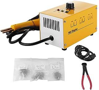 VEVOR Kit de Reparación de Plástico de Grapadora en Caliente con 300 Grapas y Recortes, Reparación de Máquinas de Soldadura 1 ph 220 V, Kit de Reparación de Parachoques de Plástico para Auto 20 W