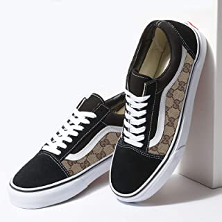 d68333bd470 Vans Black Old Skool x Gucci Custom Handmade Shoes By Fans Identity