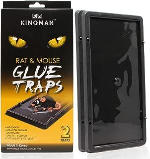 Kingman Mouse Trap Rat Trap Glue Trap/Board (Large Size) (1 Pack/2 Traps) Rodent Trap Safe Easy Non-Toxic