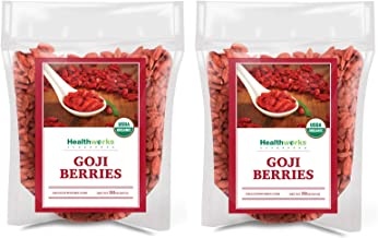 Healthworks Raw Goji Berries (64 Ounces / 4 Pounds) (2 x 2 Pounds Bags) | Certified Organic & Sun-Dried | Keto, Vegan & No...