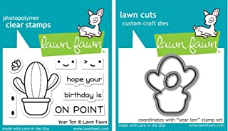 Lawn Fawn Year Ten - Cactus - Clear Stamp and Dies - Bundle of Two Items