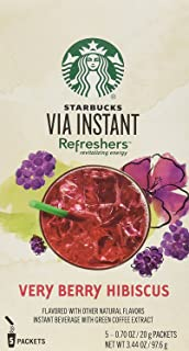 Starbucks VIA Refreshers Very Berry Hibiscus (3 Pack/Boxes) 15 Packets Total