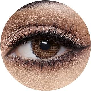 Anesthesia Addict Marron Unisex Contact Lenses, Anesthesia Cosmetic Contact Lenses, 6 Months Disposable - Addict Marron (D...