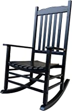 Rocking Rocker - A001BK Black Porch Rocker/Rocking Chair - Easy to Assemble - Comfortable Size - Outdoor or Indoor Use