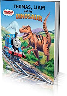 """Personalized Story Book -""""Thomas and The Dinosaur"""" – Children's Book for Kids Aged 2 to 8 Years Old - A Story About Thomas..."""
