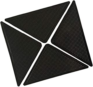 Gazelle Trading Self-Adhesive Rug Grippers Non Slip Sticker Carpet Floors Anti-Skid Black Reusable Washable Pad Triangle Grippers Rubber