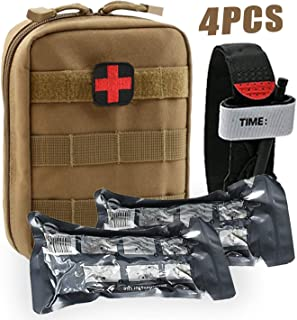 BUSIO Trauma First Aid Kit-Tactical Bag Military Combat Tourniquet+6 inch Emergency Israeli Bandage+ Medical EMT Scissors-IFAK Paramedic Sports