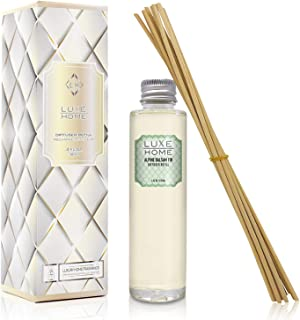 Luxe Home Alpine Balsam Fir Reed Diffuser Refill Oil with Sticks | Festive Scent with Evergreen, Pine & Woodsy Notes | Sce...