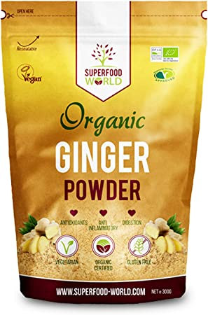 Organic Ginger Powder | Powerful Anti Inflammatory & Antioxidant Ginger Root Powder