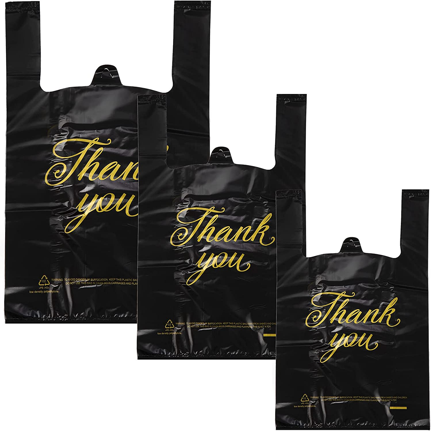 200 Pieces Thank Genuine Free Shipping You Shopping Bags in 16.5 Inch Sizes x 10 Dedication 3 1