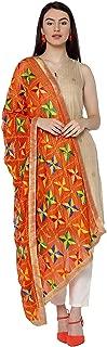 Weavers Villa Women's Indian Handicraft Ethnic Dupatta Phulkari Embroided Dupatta Chunni/Stole/Scarf