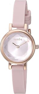 RumbaTime Women's 'Venice' Quartz Stainless Steel and Silicone Casual Watch, Color:Pink (Model: 27068)