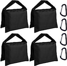 ABCCANOPY Super Heavy Duty Sandbag Saddlebag Design 4 Weight Bags for Photo Video Studio Stand,Backyard,Outdoor Patio,Spor...