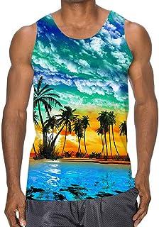 InterestPrint Mens Botton Up Shirt Mountain Lake T Shirts for Regular Fit S-5XL