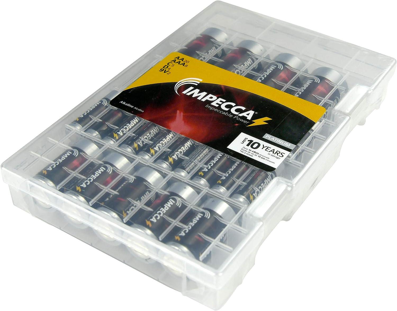 Impecca Super Alkaline Batteries AA-20 AAA-8 Max D-5 9Volt-2 trust New arrival C-5