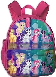 My Little Backpack Pony Friendship Is Magic Mochila para niños Moda para niños Mochilas Escolares Mochila para niños pequeños para niños niñas, Rosa, Talla única