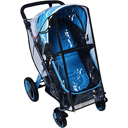 Black Stroller Rain Cover Baby Travel Weather Shield,Universal Size Waterproof Windproof EVA The Weather Shield with Eye Screen