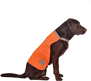 A-SAFETY Dog Reflective Vest, Hi Vis Safety Vest Keeps Dogs Visible On and Off Leash in Both Urban and Rural Environments Yellow,Orange(7.8/9.8/11.8/13.7/15.7/17.7 inches)
