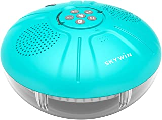 Skywin Hot Tub Speakers and Speakerphone - Disco Light Floating Waterproof IPX7 Large Wireless Pool and Shower Speaker - P...