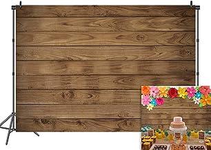 DANIU Wood Photography Background 7x5ft Vinyl Wooden Board Child Baby Shower Newborn Backdrops Photo Studio Booth Prop