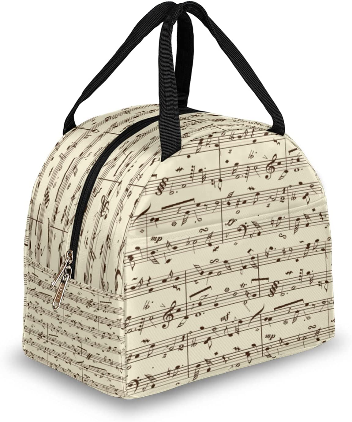 Insulated Lunch Price reduction Popular brand Bag for Women Pattern Note Reusable Music