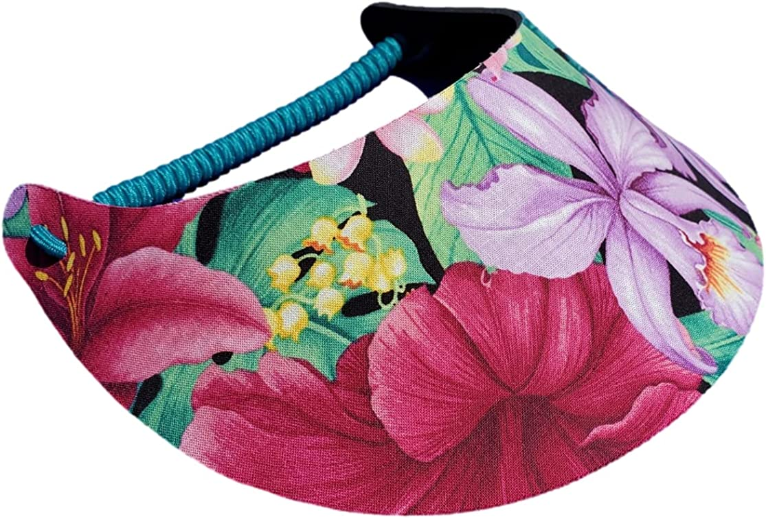The Incredible Sunvisor Flower Patterns Perfect Large-scale sale Summer Made Louisville-Jefferson County Mall for