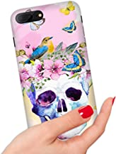 for iPhone 6 Plus, iPhone 6S Plus, Quality Art Design Soft Edge IMD Phone Case Cover, IMD0031 Day of Dead Sugar Skull Flower 0031