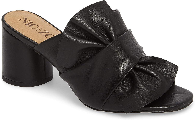 NIC+ZOE Womens Poppy Leather Open Toe Mules
