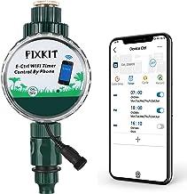 FIXKIT WiFi Reloj de Riego Inteligente con APP, Temporizador de Agua Controlado a Distancia, Riego en Cualquier Momento, Clase Impermeable de IP68, para Flores, Césped y Sistemas de Riego por Goteo