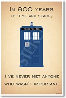 Doctor Who - Tardis - I've Never Met Anyone Who Wasn't Important - New Quote Poster by PosterEnvy