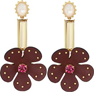 Kate Spade New York Women's Blooming Bling Leather Linear Earrings